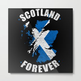 Scotland Forever Vintage Metal Print