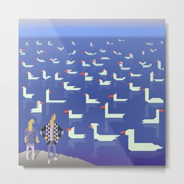 Birds Fly By Flipping Their Triangles Metal Print