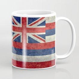 Hawaiian Flag in Vintage Retro Style Coffee Mug