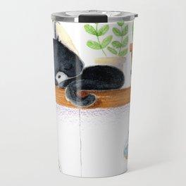 Cat sleeping Travel Mug