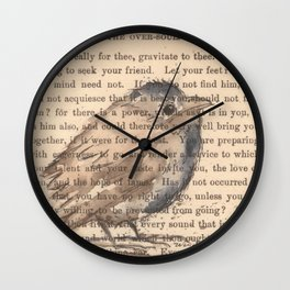Ralph Waldo Emerson Bird Wall Clock