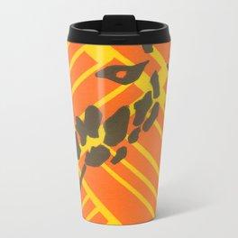 Screenprinted Giraffe Metal Travel Mug