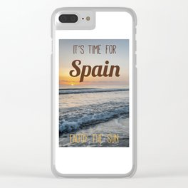 Time for spain Clear iPhone Case