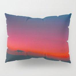 Neon Blue Pink Night Star Sky Pillow Sham