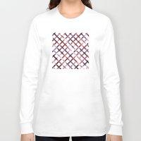 plaid Long Sleeve T-shirts featuring Christmas Plaid by Josh Franke