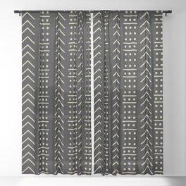 Mudcloth Black II Sheer Curtain