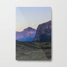Glacier Moon Metal Print