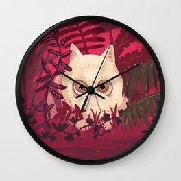 EXOTIC SHORT-HAIR CAT Wall Clock