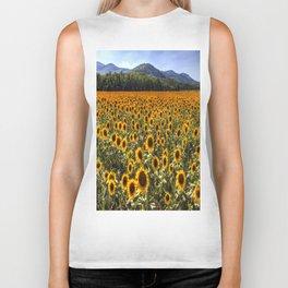 Sunflower Fields Of Dreams Biker Tank