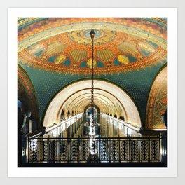 Art Deco Fisher Building Downtown Detroit Art Print