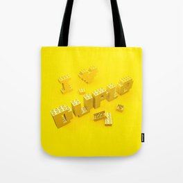 I Love Duplo Tote Bag