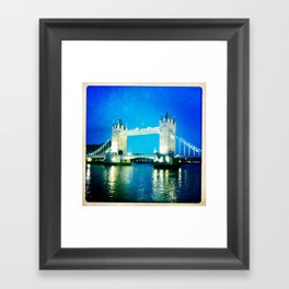 I love Tower Bridge Framed Art Print
