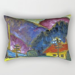 "Small Landscape with Telegraph Masts"" 1012 Rectangular Pillow"