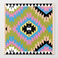 kilim Canvas Prints featuring Modern Kilim by Alisse Courter