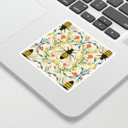 Bee Garden - Cream Sticker