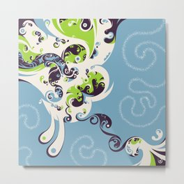 Swirly Metal Print