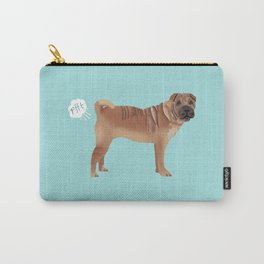 sharpei funny farting dog breed pure breed pet gifts Carry-All Pouch