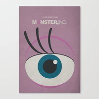 monster inc Canvas Prints featuring Monster, Inc. - Pink (Vintage) by Lemontrend Studio