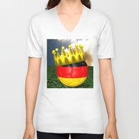 world cup V-neck T-shirts featuring World Cup Champion 2014 by Littlebell