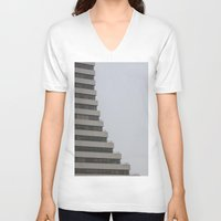 building V-neck T-shirts featuring Building by RMK Creative