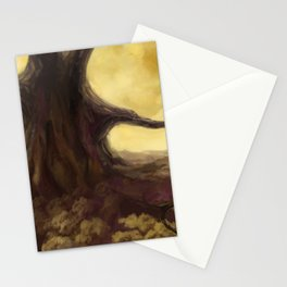 Huge old tree with enormous branches over the forest Stationery Cards