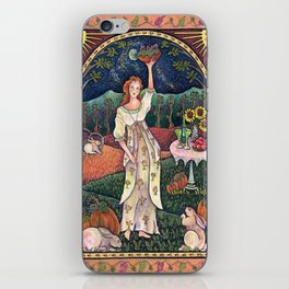 Wine Harvest Maiden iPhone Skin
