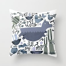 Story of the Rabbit Throw Pillow