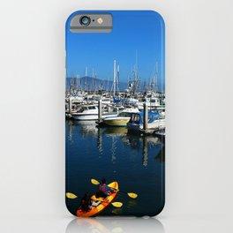 Pillar Piont Harbor at Half Moon Bay iPhone Case