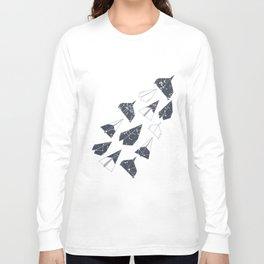 Aerodynamic, Origami Paper Planes Long Sleeve T-shirt