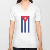 cuba V-neck T-shirts featuring Cuba Live by McGrathDesigns