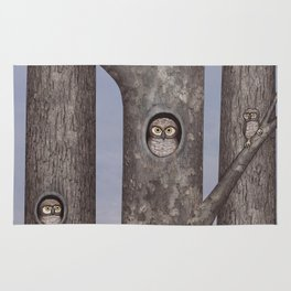 owls in trees Rug