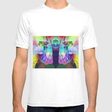 coast of facets White Mens Fitted Tee MEDIUM