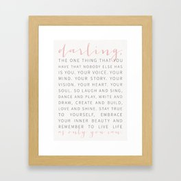 Darling... Framed Art Print