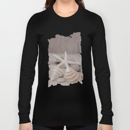 Beach Still Life With Shells And Starfish Long Sleeve T-shirt