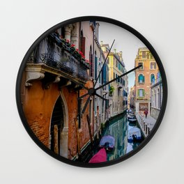 Colorful Venice Italy Canals Wall Clock