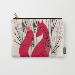 Fox in Shrub Carry-All Pouch