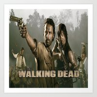 the walking dead Art Prints featuring Walking Dead by store2u
