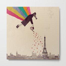 Parisians, eat strawberries. Metal Print