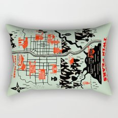Twin Peaks Map Rectangular Pillow