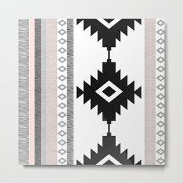 Pueblo in Pink Metal Print