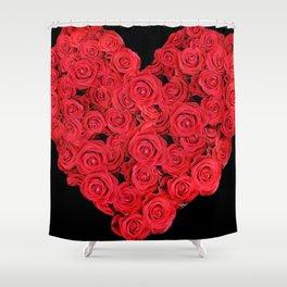 Love hearts II Shower Curtain