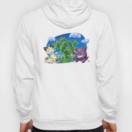 Meowth and Gengar Celebrating Holidays in Texas Hoody