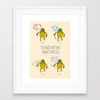 teenage mutant ninja turtles Framed Art Prints featuring teenage mutant ninja turtles by Lionel Hotz