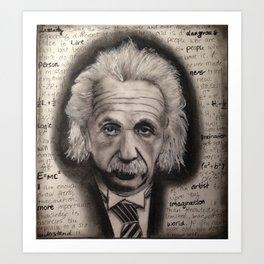 Einstein B&W Art Print