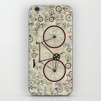brompton iPhone & iPod Skins featuring Love Fixie Road Bike by Wyatt Design