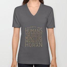 Plenty of Humans Were Monstrous Unisex V-Neck