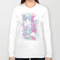 palm trees Long Sleeve T-shirts featuring Palm Trees by Wendy Ding: Illustration