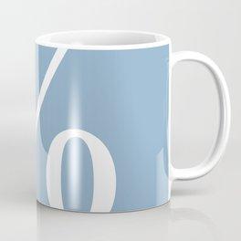 percent sign on placid blue color background Coffee Mug