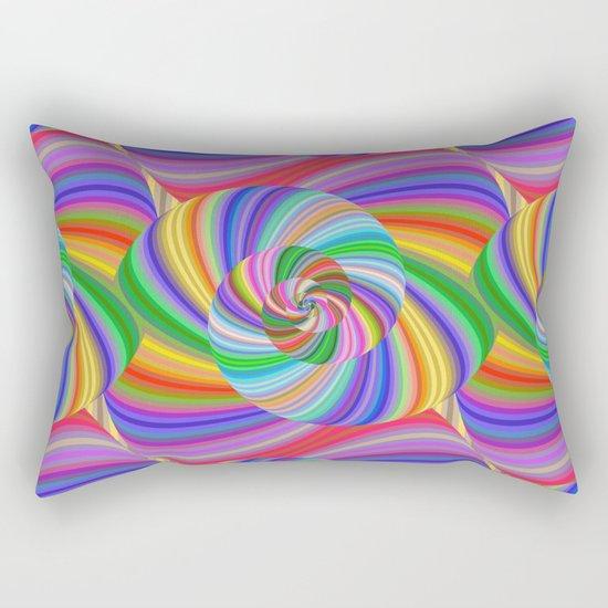 Color spiral pattern Rectangular Pillow