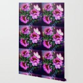 PEONIES IN BLOOM Wallpaper